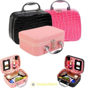 beauty make up nail tech cosmetic box jewellery vanity case storage bag large salon .