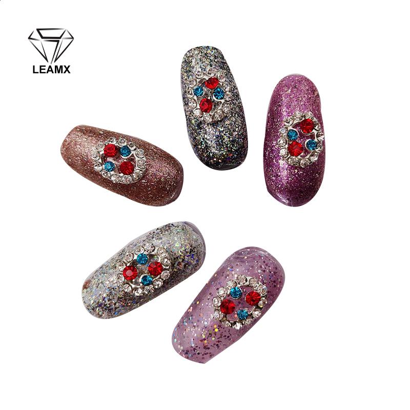 10 Pcs 17 New Redblue Two Colors Nail Art 3d Rhinestone Alloy Diy