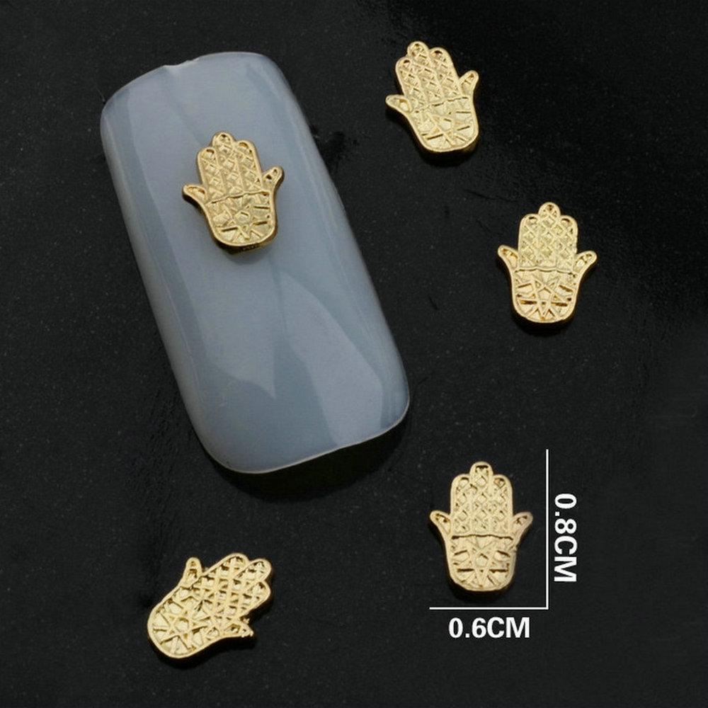 10pcslots Goldsilver Alloy Nail Art 3d Nail Art Charms Diy Nail