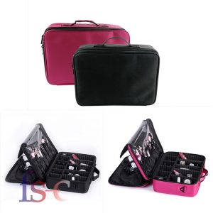 professional large beauty make up bag cosmetic case toiletry storage organizer salon.